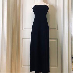 Banana Republic black wool strapless dress size 4